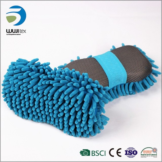 china manufacturer custom chenille creative wash car cleaning sponge