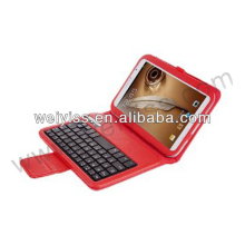 Hot red color case for ipad case with keyboard