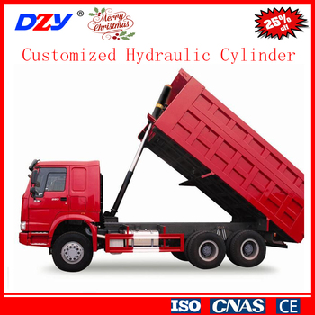Excavator tractor loader dump truck telescopic hydraulic cylinder used for tipper trailer