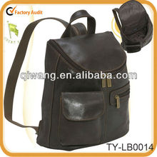 Vintage design leather laptop backpack for women
