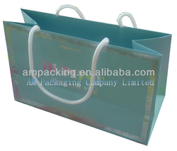 Hot sale matte lamination cotton handle paper shopping bag