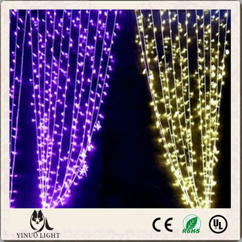 CE &RoHs Approved Fairy LED icicle lights with transparent wire for outdoor party and wedding lighting