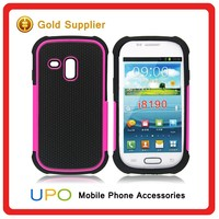[UPO] Stylish 3 in 1 Silicone+PC Mobile Covers Case for Samsung Galaxy S3 Mini i8190