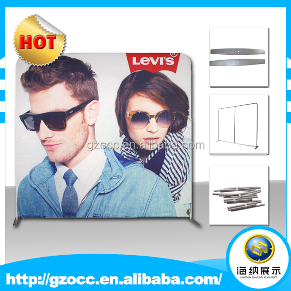 portable pop up exhibition booth design 10x20ft tension fabric trade show backdrop display with good price