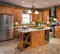 Solid wood design Maple natural kitchen furniture cabinet