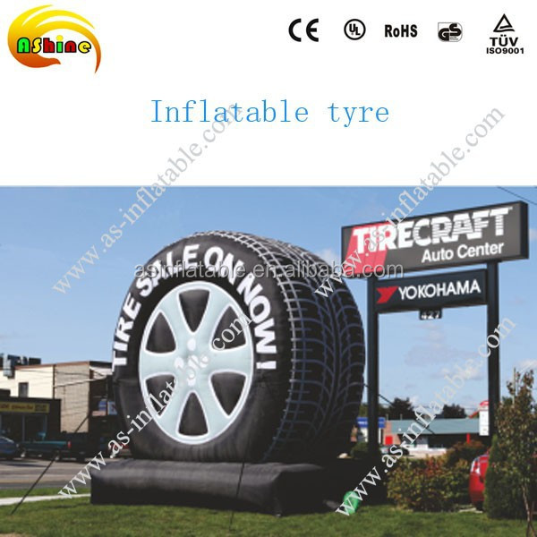 Giant inflatable tyre model