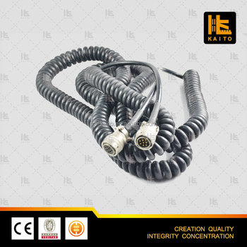 Paver heavy equipment spiral connection cable for Vogele