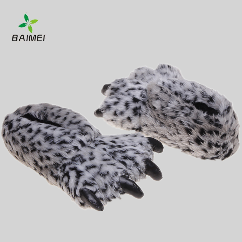 Plush Soft Fur Lined Claw Indoor Slippers For Women