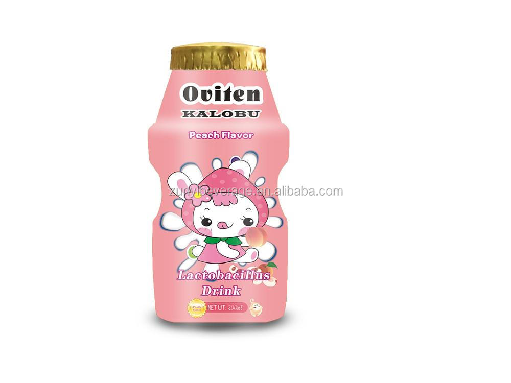 112ml Children Peach flavor Lactobacillus Milk Drink