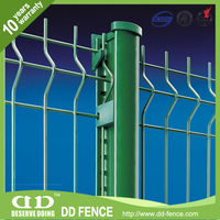 CE certified welded pvc coated decorative garden wire fence/ welded powder painting mesh from China (factory)/DD-FENCE for sale