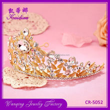 Most popular super quality metal rhinestone boys tiara crown