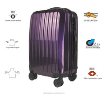 fancy travel luggage custom suitcases lightweight luggage PCU-20/24/28