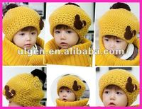 2012 new winter knitted hat and sacrf set for kid children