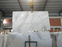 Greece Volakas White Marble Slabs, Polished White Marble For Interior Decoration