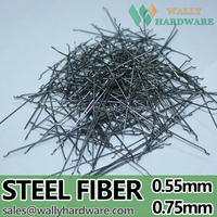 Micro brass coated waved steel fiber for tunnel construction In China
