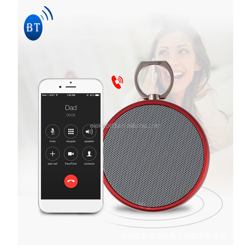 2017 Popular BS02 Mini Wireless BT Speaker support Music/Hands Free Calls/TF Card/Remote Shutter, w/retail package