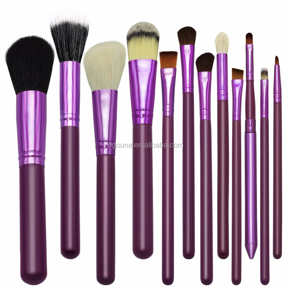 OUNA Beauty Needs Perfect Cosmetic Brush Sets Cute Design 12 Pcs Makeup Brush Set