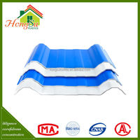 New products on china market long term color stability 3 layer corrugated plastic roofs tile