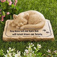Polyresin Pet Memorial Stones Cat Memorial