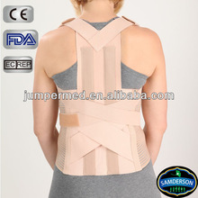 Two metal stays in back, warm, comfortable, spinal brace & posture brace