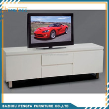 Modern white color wooden tv stand design mdf tv unit furniture