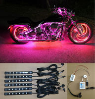 iOS Android APP Neon 6PCS LED Pod + Strip Accent Light Glow Kit for Motorcycles with CE Rohs