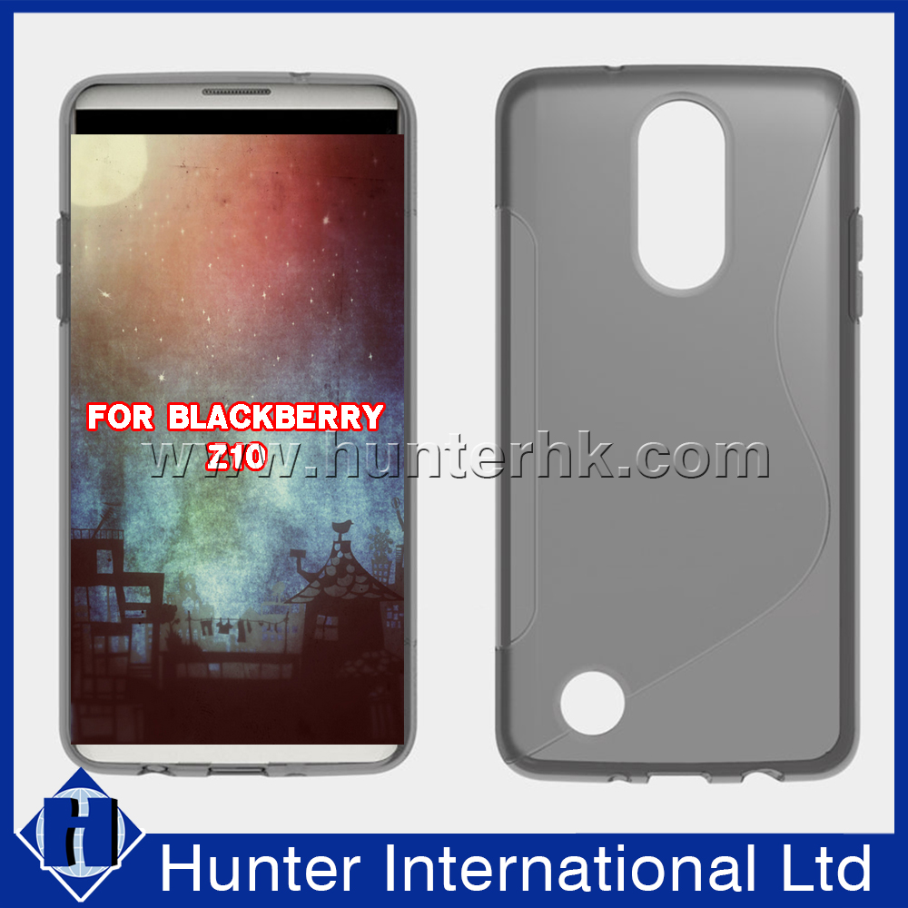 Factory Price S-line Jelly TPU Case For Blackberry Z10