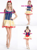 2015 Instyles Sexy Short Snow White Fever Fairytale Fancy Dress Ladies Adult Womens Costume Book Outfit UK8 10 12 14 16