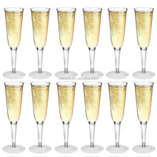 Strong Dining Drinking Cups Glasses,Plastic Outdoor Champagne Flutes