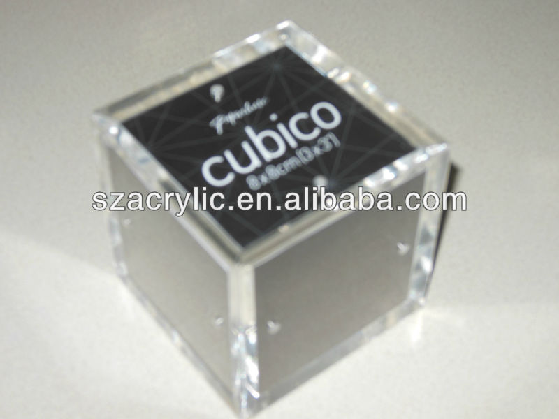 Hight quality acrylic box picture frame plastic box photo frame