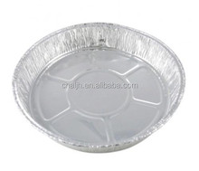 Small Round Aluminium foil pie container with clear plastic lid