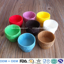 Disposable white paper baking cups , muffin wraps, cupcake cups for cakes