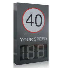 Power speed radar display parking arrow sign led traffic control speed limit sign