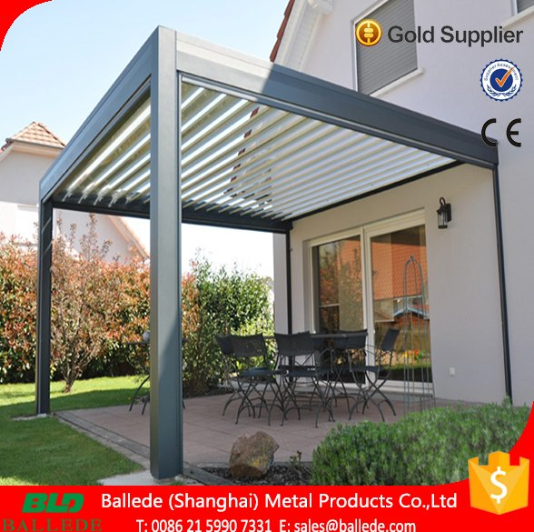 motorized waterproof roof louver pergola