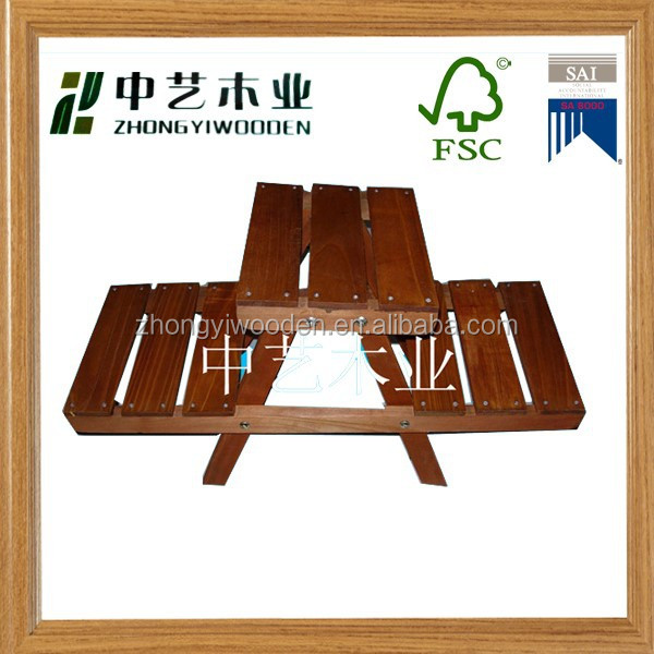 handmade new fasion wooden gardening tool with stool manufacturer