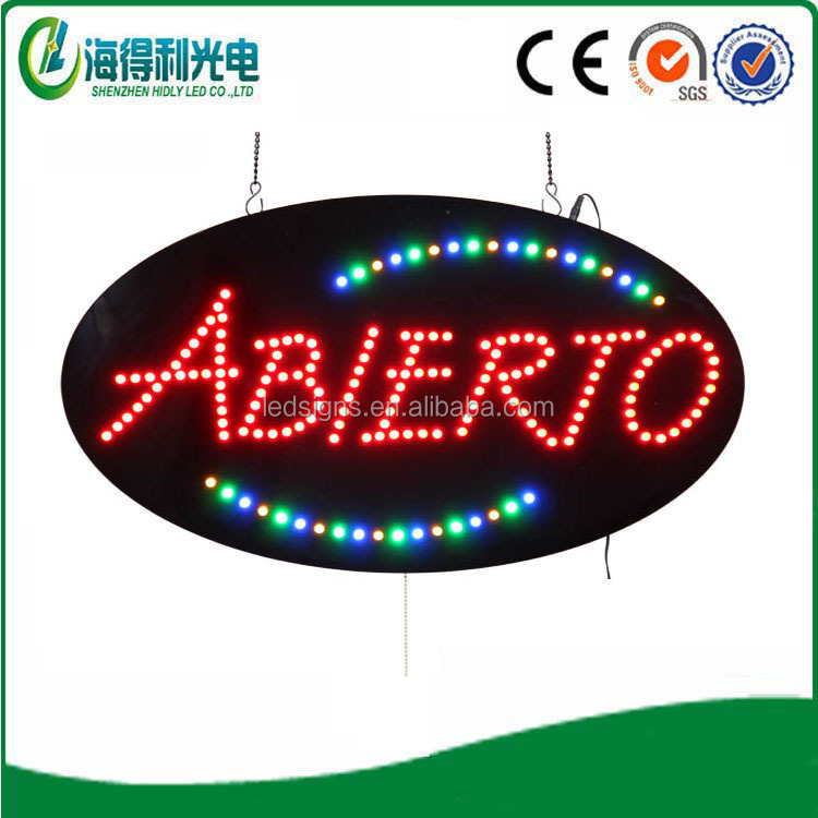 Customed acrylic led open sign animated led sign for sale