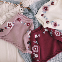 Baby Sweater Newborn Girls Sweaters Cardigans Autumn Causal Toddler Long Sleeves Knitwear Jackets Winter Child