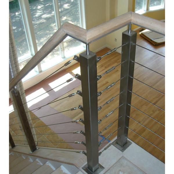 Shenzhen Launch Exterior Inox Wire Rope Railing System 5mm - Buy ...