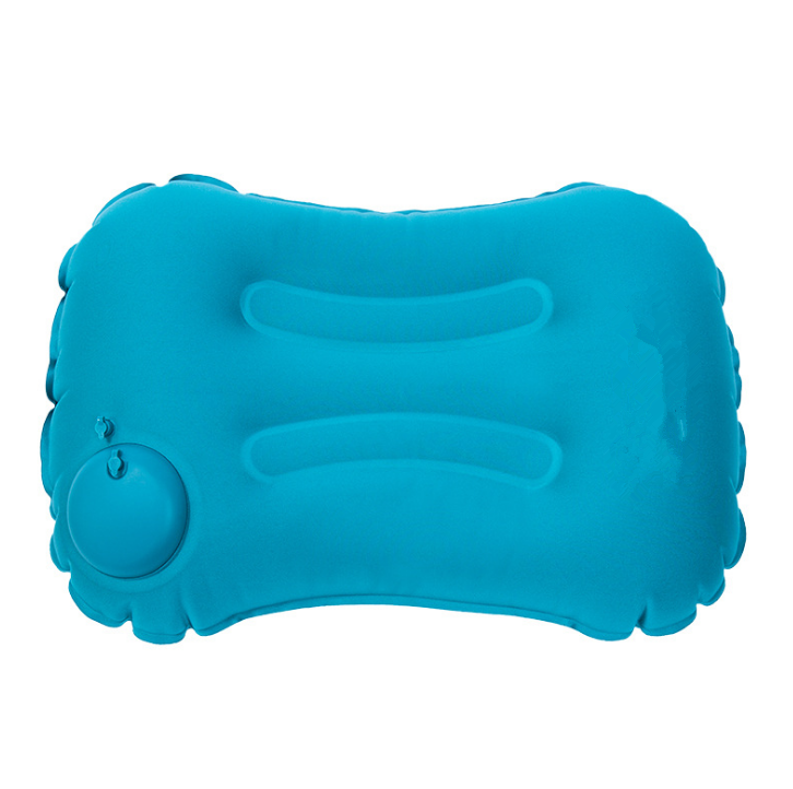 travel use air plane waist pillow inflate for adult with press Inflation valve