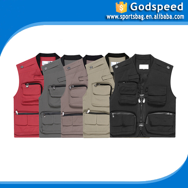 Outdoor multi function waterproof fishing quick-dry multipocket safety vest with pockets