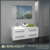2017 Contemporary high gloss white lacquer finish bath vanity
