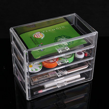 PS Clear drawer storage rotating cylinder cosmetic storage box transparent acrylic makeup cases