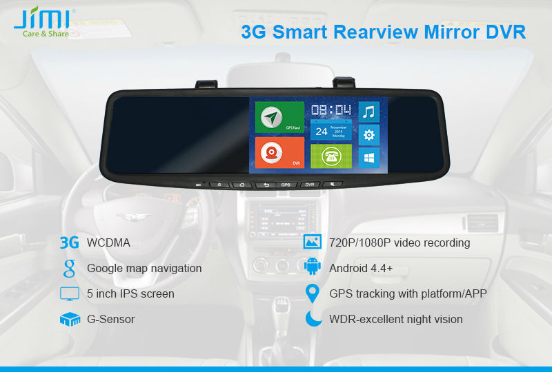 JIMI JC600 3G Android Sourcingbay Bluetooth Car Rearview Mirror Mirrors On A Car