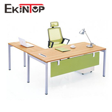 Wood design executive CEO office desk, L shape manager computer table