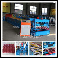 color steel galvanized metal aluminum glazed trapezoidal sheet roof tile wall panel roll forming machine