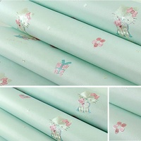 eco beautiful lovely non woven interior kids 3d bedroom wallpaper Hello Kitty