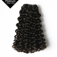 China Factory Quality Candy Curl Human Weaving Raw Unprocessed Wholsale Virgin Hair
