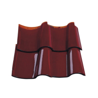S1 maroon color clay curved french roof tile