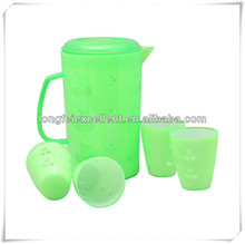 china High quality Plastic Pitcher promotional plastic jug set with 4pcs cup colored plastic pitcher
