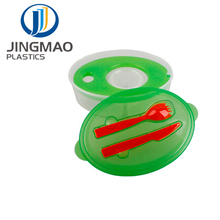 BPA Free Plastic Food Containers With Cooling Fork And Spoon